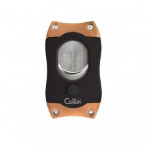 Colibri S Cut Cigar Cutter - Black & Rose Gold