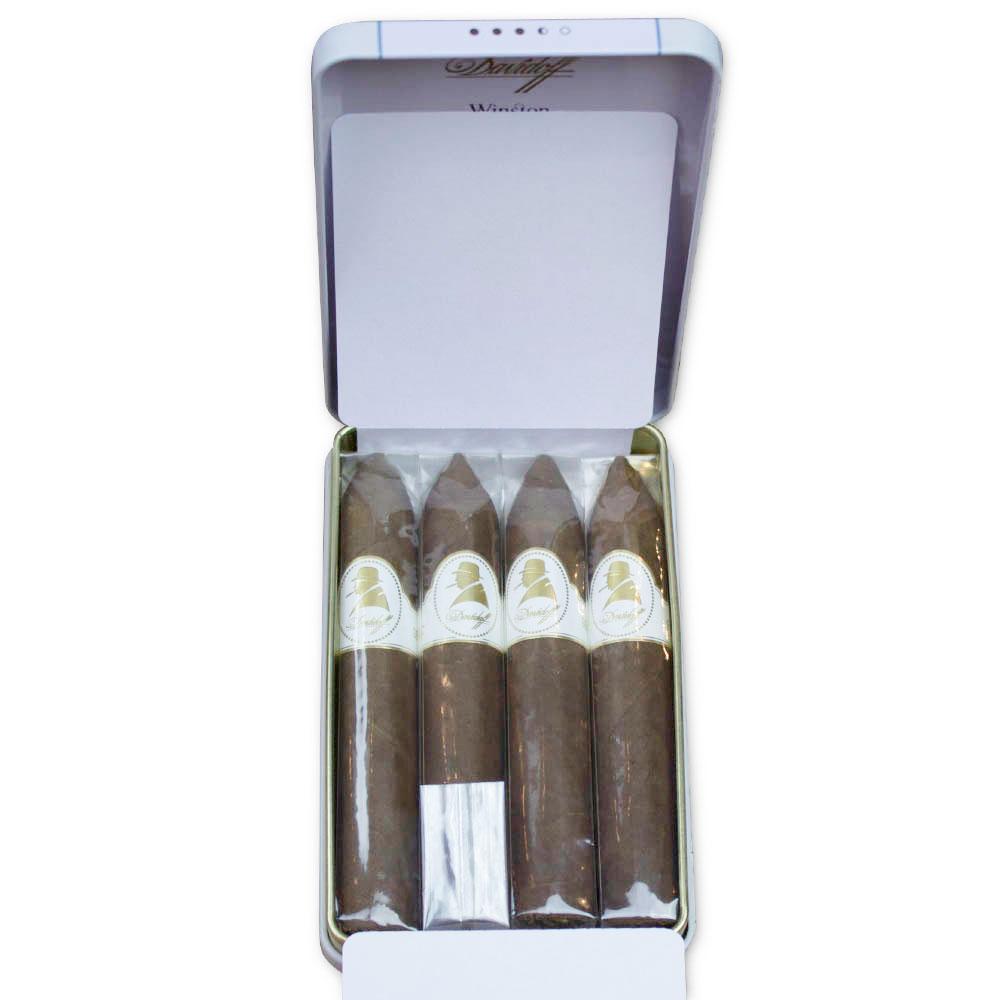 Davidoff Winston Churchill Belicoso Cigar (the new Lancaster) - Tin of 4
