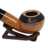 Peterson Clontarf Natural Briar Smooth Bent 999 Fishtail Pipe (G1161)