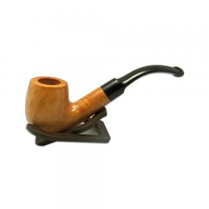 London Made Light Amber Briar Bent Pipe