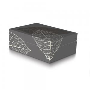 Davidoff Zino Grey Graphic Leaf Humidor - 50 Cigar Capacity