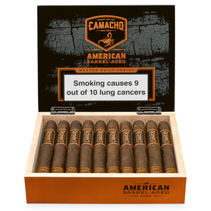 Camacho American Barrel Aged Toro Cello Cigar - Box of 20