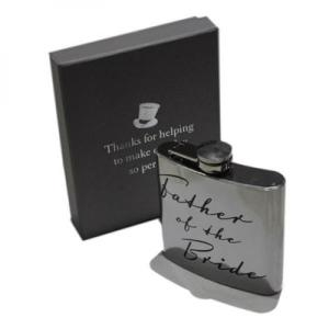 5oz Father of the Bride Script Personalised Hip Flask