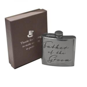 5oz Father of the Groom Script Personalised Hip Flask