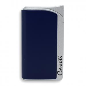 Caseti Jet Flame Lighter - Matt Blue & Matt Silver - MFH 492 (End of Line)