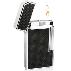 Caseti Full Cap Flint Lighter - Black Carbon Fibre