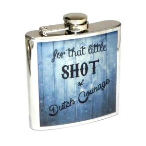 "6oz ""Dutch Courage"" Personalised Hip Flask"