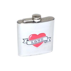 6oz Love Heart Design Personalised Hip Flask