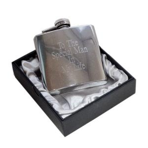 "4oz ""To the Special Man in my Life"" Engraved Personalised Hip Flask"