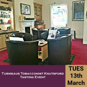 Turmeaus Norfolk Whisky and Cigar Tasting Event - 13/3/18