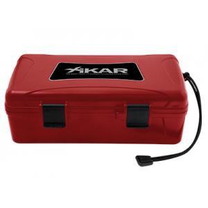 Xikar Travel Waterproof Case Humidor Red - 10 Cigars Capacity