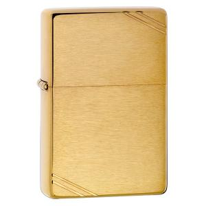 Zippo Vintage Lighter - Brushed Brass with Slashes
