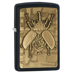 Zippo - Black Matte Steampunk Beetle - Windproof Lighter