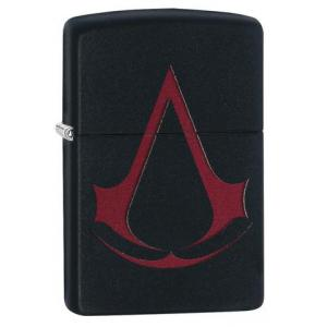 Zippo - Black Matte Assassin's Creed Crest - Windproof Lighter