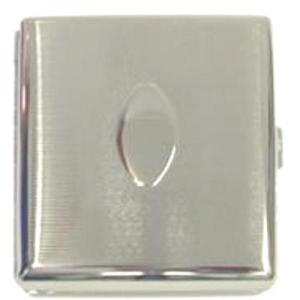 Chrome Oval Cigarette Case