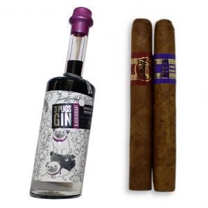 3 Pugs Blackcurrant Gin and Inka Petit Coronas Pairing