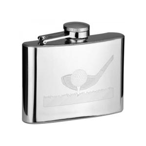 4oz Golf Driver Personalised Hip Flask