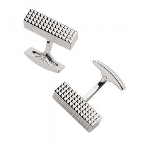 ST Dupont Diamond Head Silver Cufflinks
