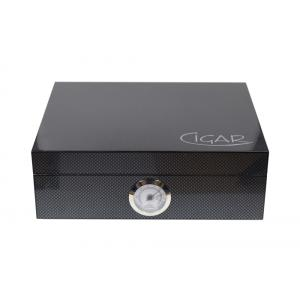 Windsor Carbon Gloss Finish Humidor - 20 Capacity