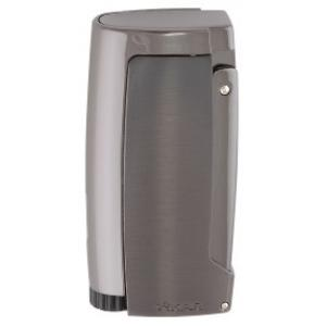 Xikar Pulsar Triple Jet Lighter - Gunmetal with Punch Cutter