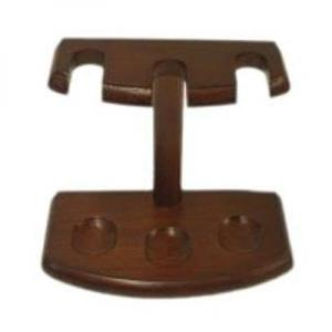 Cherry Wood Pipe Rack - Holds 3 Pipes