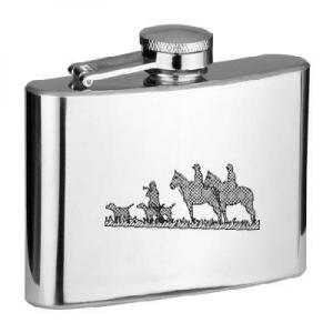 4oz Horsemen Hunters Personalised Hip Flask