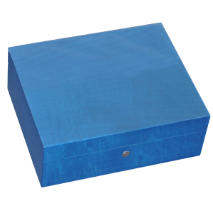 Elie Bleu Fruit Collection Blue Humidor - 75 Cigar Capacity
