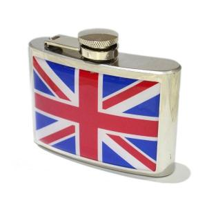 "4oz ""Union Jack Personalised Hip Flask"