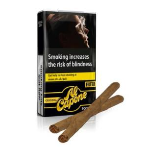 Al Capone Pockets Original Filter Cigarillos - Pack of 3