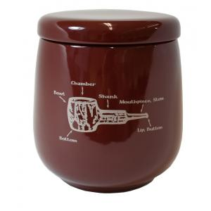Talamona Burgundy Ceramic Tobacco Jar With Rubber Lid