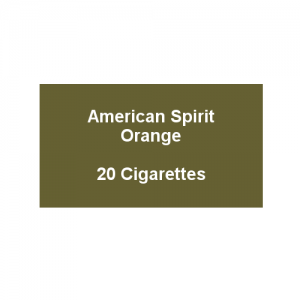 American Spirit Orange -  1 Pack of 20 Cigarettes (20)