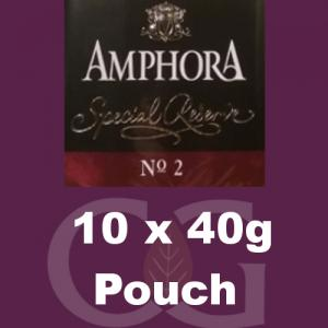 Amphora Special Reserve No.2 Pipe Tobacco - 400g (10 x 40g Pouches)