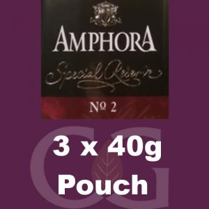 Amphora Special Reserve No.2 Pipe Tobacco - 120g (3 x 40g Pouches)