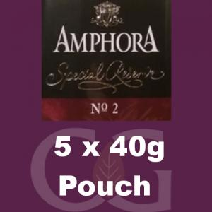Amphora Special Reserve No.2 Pipe Tobacco - 200g (5 x 40g Pouches)