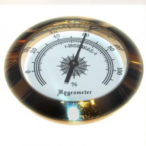 Analogue Hygrometer – Brass Finish  - 2 inch