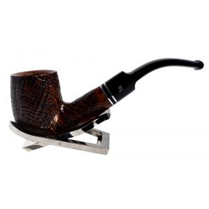 BigBen Maestro Sandgrain Billiard Bent 9mm Filter Fishtail Pipe (BIG04)