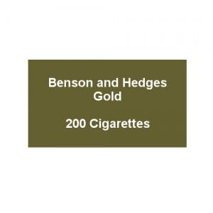 Benson & Hedges Gold Kingsize - 10 Packs of 20 Cigarettes (200)