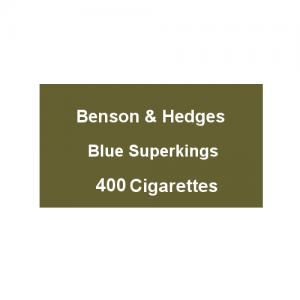Benson & Hedges Blue Superking - 20 Packs of 20 Cigarettes (400)