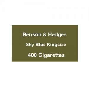 Benson & Hedges Sky Blue Kingsize - 20 Packs of 20 Cigarettes (400)