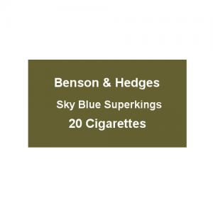 Benson & Hedges Sky Blue Superkings - 1 Pack of 20 Cigarettes (20)