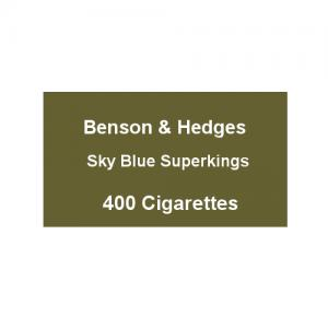 Benson & Hedges Sky Blue Superking - 20 Packs of 20 Cigarettes (400)