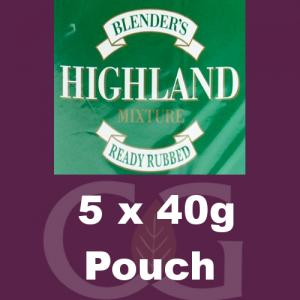 Blenders Highland RR Pipe Tobacco 160g (5 x 40g Pouches)