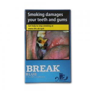 Break Filter Cigarillo - Blue - 10 x Packs of 17