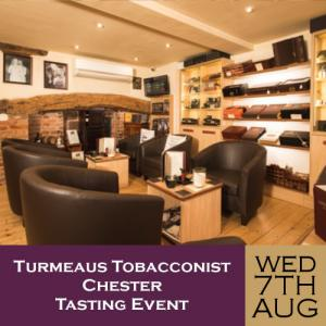 Turmeaus Chester Whisky & Cigar Tasting Event - 07/08/19