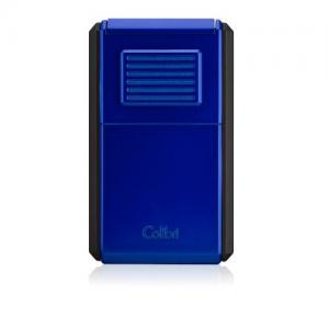 JANUARY SALE - Colibri Astoria Triple Jet Flame Lighter - Matt Black & Blue (End of Line)