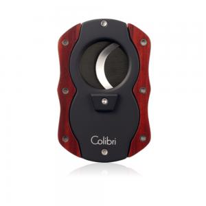 Colibri Cut Wood Cigar Cutter - Red Wood