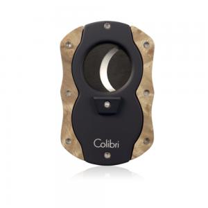 Colibri Cut Wood Cigar Cutter - Light Burl