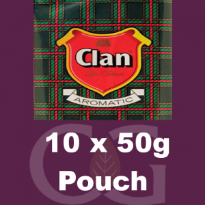 Clan Pipe Tobacco 500g (10 x 50g Pouches)