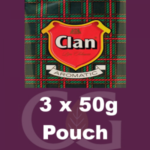 Clan Pipe Tobacco 150g (3 x 50g Pouches)