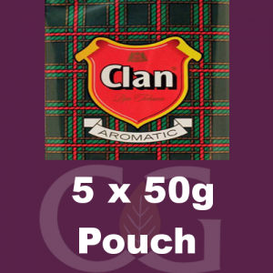 Clan Pipe Tobacco 250g (5 x 50g Pouches)